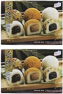Pamai Pai Doppelpack: 2 x 450g Mochi versch. Sorten - 15 Reiskuchen Sesam Füllung Erdnuss