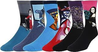 Men's Argyle Colorful Dress Trouser Funny Crazy Art Patterned Cotton Crew Socks