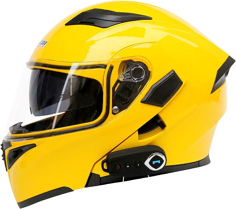 Casque Modulable Bluetooth Moto Modulable Flip-Up Helmet Casques Motocross Modular Integral Helmet ECE Homologu/é Full Face Motorcycle Helmet Homme Femme Adulte A,M=57~58CM