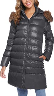 Women's Long Winter Coat Thick Fur Down Jacket with Hood