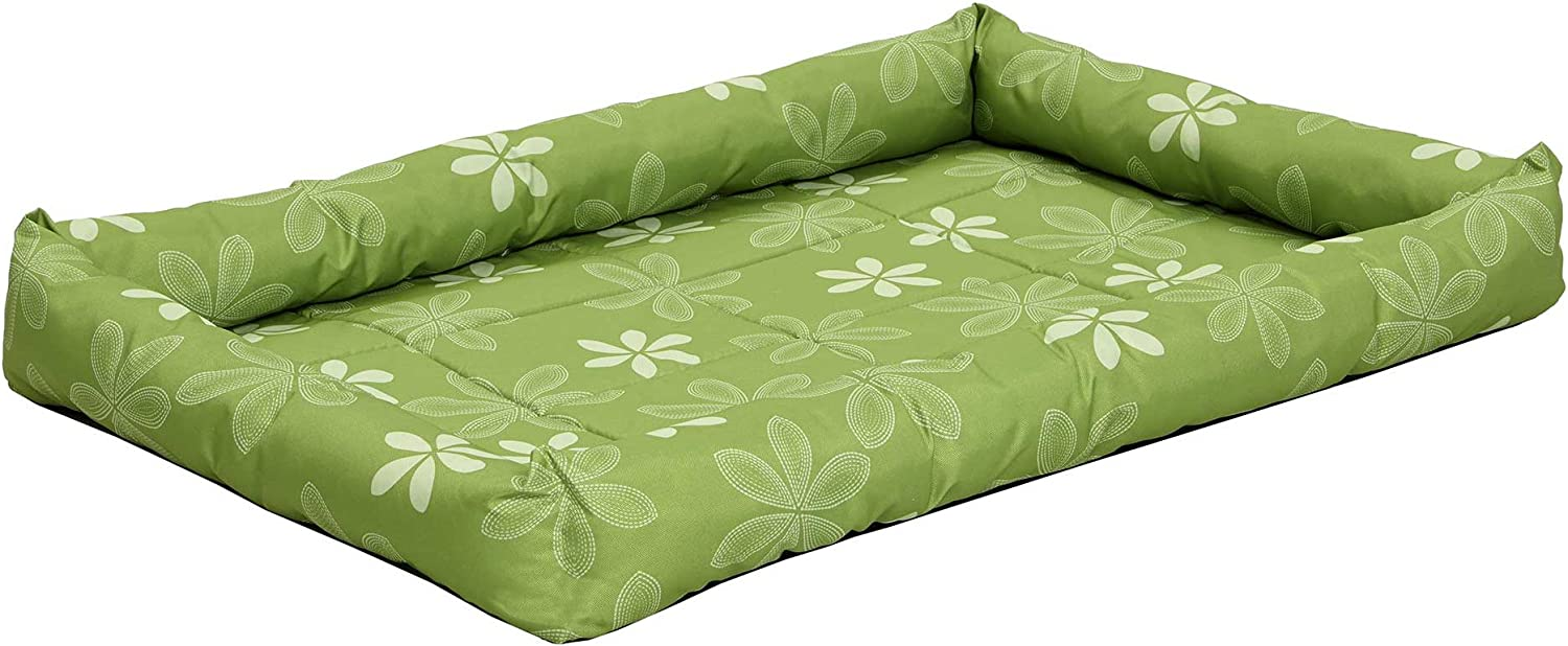 Midwest Homes for Pets Paradise Floral with Teflon Fabric Predector, 42Inch, Green