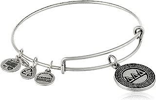 Sorority Delta Delta Delta Expandable Rafaelian Gold-Tone Wire Bangle Bracelet