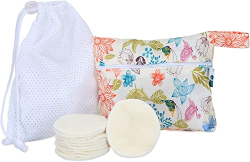 Teamoy Resuable Makeup Remover Pads(12 Packs), Washable Cotton Rounds for Face, Bamboo Soft Cleansing Wipes with Laun...