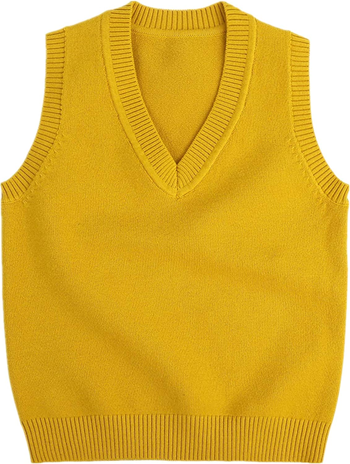 Maylofuer Little Boys Vest Sweater V-Neck Solid Color
