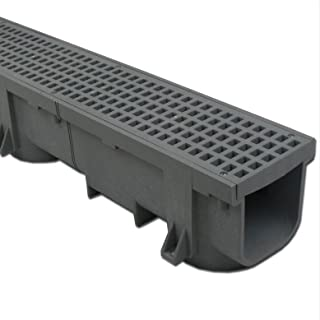Polylok Heavy Duty 4ft Trench Drain & Grate - Gray