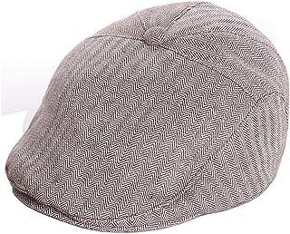 OVOY Boy's Tweed Cap Scally-Boy-Newsboy Baby Kids Driver Cap Cotton Christening Hat