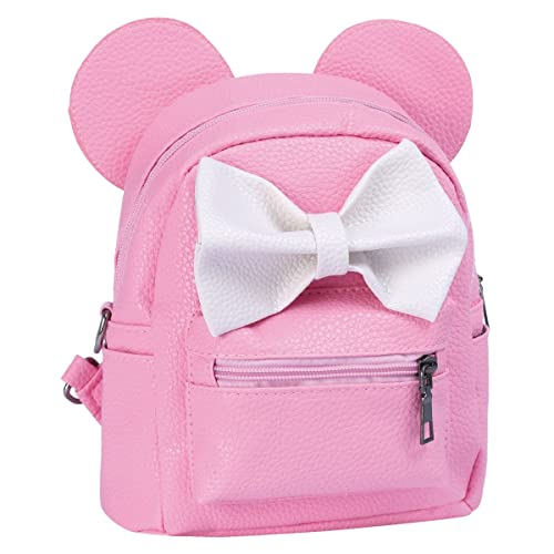 4595bdc318 Cartoon Animal Backpack Girls Toddlers Kids PU Leather Cute Mouse Bowknot  Mini Fashion Backpack Satchel Shoulder