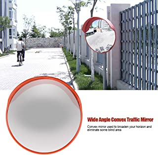 Traffic Mirror,60cm Wide Angle View Driveway Road Safety Convex Traffic Security Mirror Includes Mounting Bracket & Screw Driveway Blind Spot Hidden for Outdoor Indoor