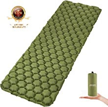 CRAZY STONE Inflatable Camping Sleeping Pad - Ultralight Compact Camping Sleeping Mat for Backpacking, Hiking - Comfortable Air Cell Pad with Repair Kit