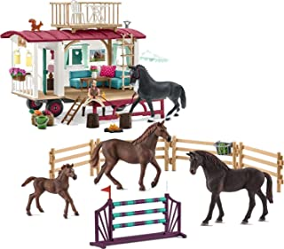 Schleich Horse Club Secret Training at the Caravan Educational Playset for Ages 5-12
