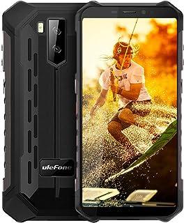 "Ulefone Armor X5 IP68防水頑丈な携帯電話ロック解除、Android 9.0屋外スマートフォン5.5""18:9 FHD +、MT6763 3GB + 32GB、デュアル4G LTEグローバルバンド、GPS + GLONASS + NFC、5000mAhバッテリー、耐衝撃性 (黑)"