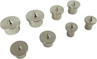 Taytools 203622 8 Piece Set Dowel Center 1/4, 5/16. 3/8, 1/2 Inch Machined Plated Steel