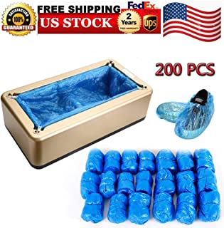 Shoe Covers Machine, Automatic Shoe Cover Dispenser with 200pcs Disposable Plastic Boot &Shoe Cover, Portable Shoes Boot Cover Dispenser Shoes Cover Machine Perfect for Medical, Home, Shop and Office