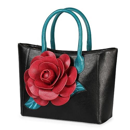 Women Handbag 3D Flower Seris PU Leather Purse Tote Medium Bag By  Vanillachocolate