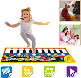 SGDD Music Piano Mat for Kids, Keyboard Piano Play Mat Music Dance Mat Musical Blanket Carpet Early Educational Toys for T...