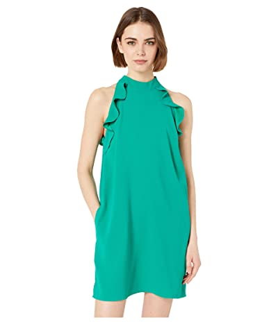 Jack by BB Dakota Necks Question Crepe Dress with Ruffle (Pepper Green) Women