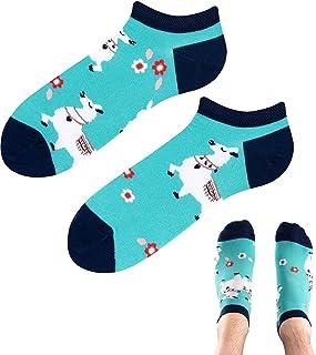 TODO Colours - Calcetines deportivos con diseño de Alpaca Lama Low, divertidos calcetines de alpaca, multicolor, para homb...