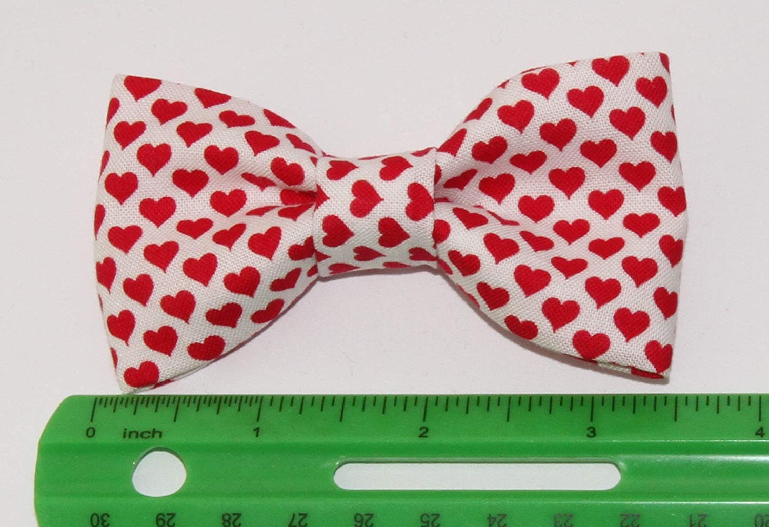 Toddler Boy 4T 5T White Tiny Red Hearts Clip On Cotton Bow Tie Bowtie