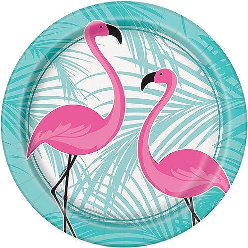 c77d64eceda1 Unique Party 51505 - 23cm Summer Luau Pink Flamingo Party Plates