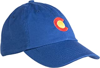 Ann Arbor T-shirt Co. Colorado State Flag Low Profile Baseball Hat | Coloradan Golf Cap Royal Blue
