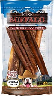 Loving Pets Pure Buffalo 6-Inch Bully Stick Size:Pack of 2