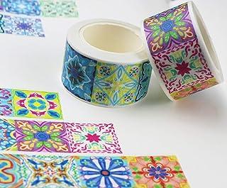 ALOHA SUN Mandala Flowers Washi Masking Tape Set Japanese Decorative Paper Tapes for DIY Craft Aplied Scrapbook Designs Bu...