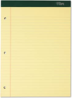Tops 63387 Double Docket Ruled Pads, Legal Rule, LTR, Canary, 6 100-Sheet Pads/Pack