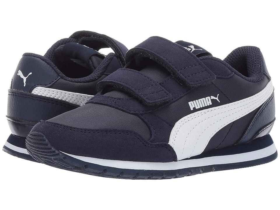 Puma Kids ST Runner v2 NL V (Little Kid) (Peacoat/Puma White) Boys Shoes