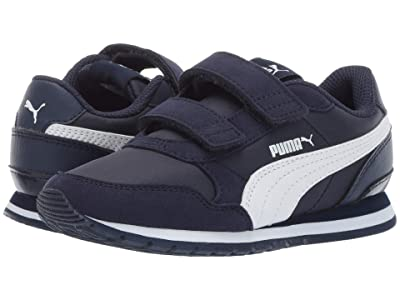 Puma Kids ST Runner v2 NL V (Little Kid) (Peacoat/Puma White) Boys Shoes