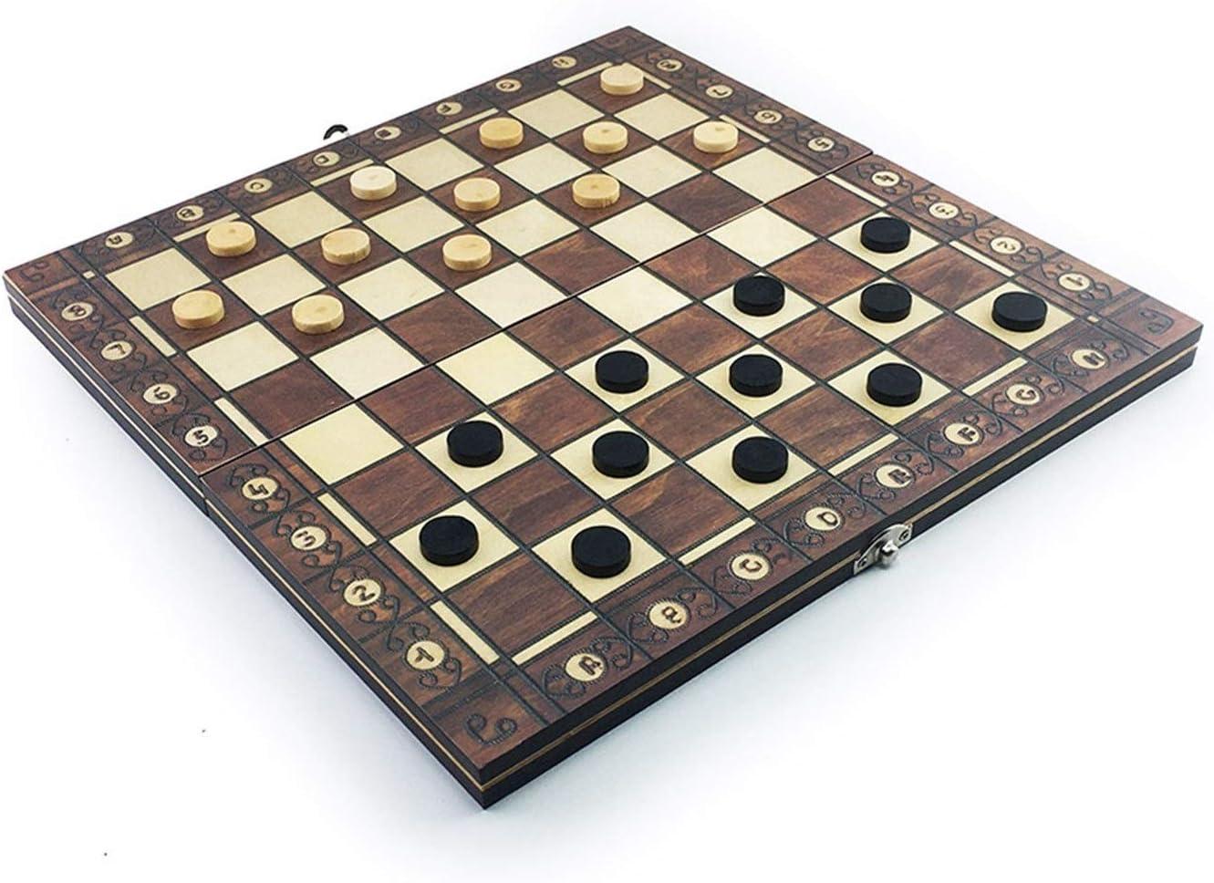 Color : 24 x 24cm Super Magnetic Wooden Chess Backgammon Checkers 3 in 1 Scacchi Gioco Antico Scacchi da Viaggio Scacchi Set di Scacchi di Scacchi in Legno Scacchiera
