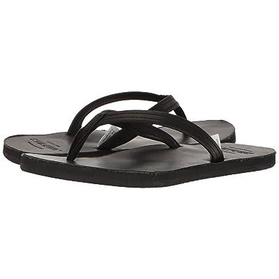 Sebago Tides Flip Flop (Black Leather) Women