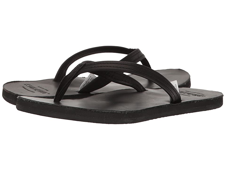 Sebago Tides Flip Flop (Black Leather) Women