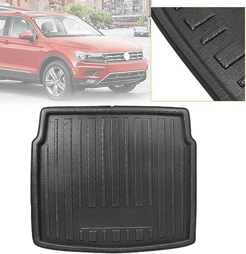 discount Mallofusa Cargo Liner Rear Cargo Tray Trunk Floor Mat Compatible outlet sale for Volkswagen VW Tiguan MK2 2016 2017 popular 2018 Black online