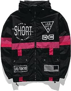 Men Windbreaker Jacket Legacy Fashion Hip Hop Thin Zipper Casual Jacket Life is Short Outwear
