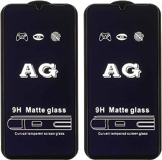 شاشة حماية زجاجية مقاومة للتوهج لموبايل اوبو ريلمي C2 من دراجون، قطعتين - اسود