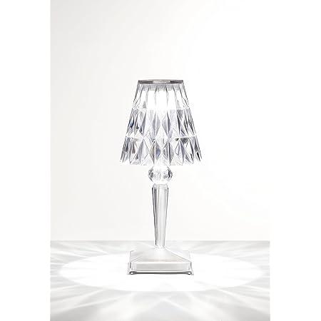Kartell Battery Lampada da Tavolo, Trasparente(Cristallo), 12 x 26 x 12 cm