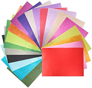 """200 Sheets 20 Multicolor Tissue Paper Bulk Gift Wrapping Tissue Paper Decorative Art Rainbow Tissue Paper 12"""" x 8.4"""" for A..."""