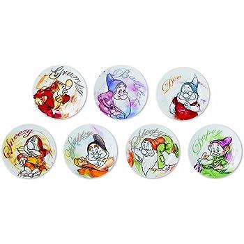 2/unit/és Disney Walt pwm37t//2/x L Lot de Assiettes /à Pizza Porcelaine Multicolore mod/èle Sweet Love