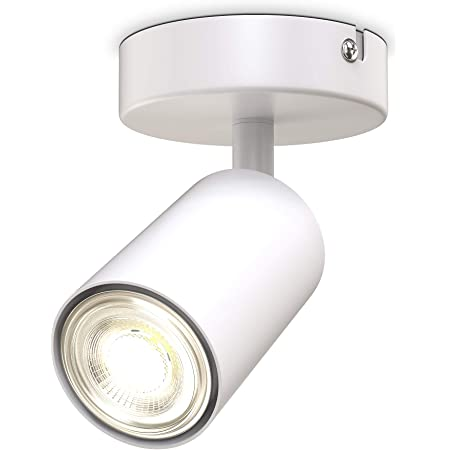 B.K.Licht I spot plafond I pivotant I orientable I GU10 I blanc mat I livré sans ampoule