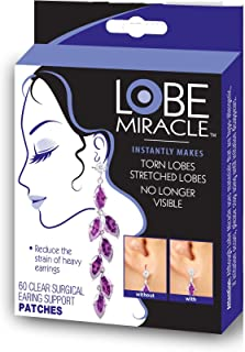 Lobe Miracle Ear Lobe Support Patches, 60 Count