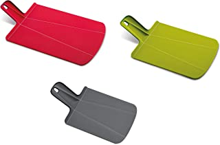 Joseph Joseph 96010 Chop2Pot Foldable Plastic Cutting Board 3-piece, Large/Small/Mini, Red/Green/Gray