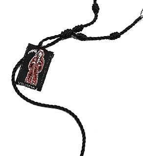Santa Muerte Red, Grim Reaper, Holy Death Knotted Decenary Adjustable Bracelet