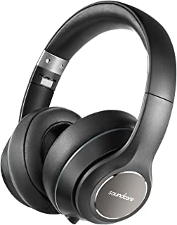 Soundcore Vortex Wireless Headset, 20H Playtime, Deep Bass, Hi-Fi Stereo Earphones for PC/Phones/TV, Soft Memory-Foam Ear ...