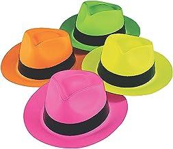 Fun Express - Sombreros de plástico de color neón (12 unidades)
