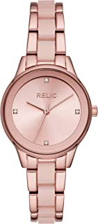 Relic by Fossil Women's Tessa Quartz Metal and Acetate Sport Watch