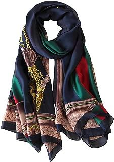 Womens 100% Mulberry Silk Scarf Long Satin Scarf Fashion Designer Scarf Lightweight Neck Wear