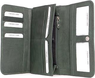 Portafoglio per Giovani Donne,CONISY Elegante Piccolo Portamonete in Pelle Cute Small Wallet Signora Army Green