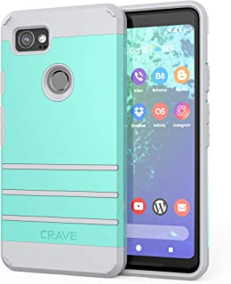 Google Pixel 2 XL Case, Crave Strong Guard Protection Series Case for Google Pixel 2 XL - Mint/Grey