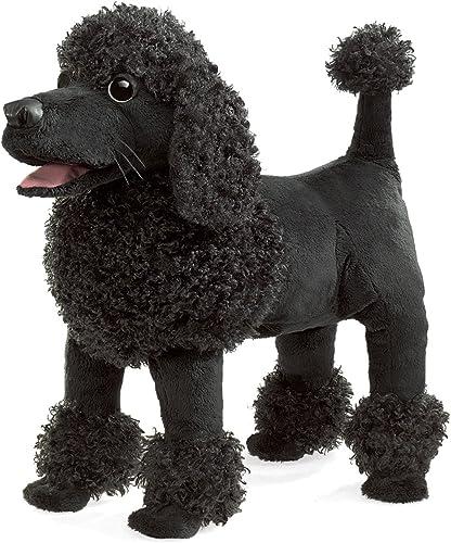 almacén al por mayor Folkmanis Poodle Perro Cachorro de Mano de de de Felpa negro con Relleno de Cachorro Animal Puppets  Esperando por ti