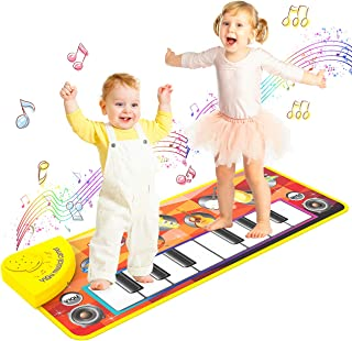 LET'S GO! Music Mats, Baby Early Education Music Piano Keyboard Kids Piano Mats - Idea Gifts
